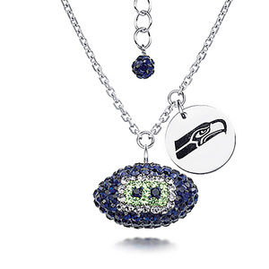 NFL Seattle Seahawks Football Necklace - Licensed
